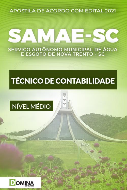 Apostila SAMAE Nova Trento SC 2021 Técnico de Contabilidade