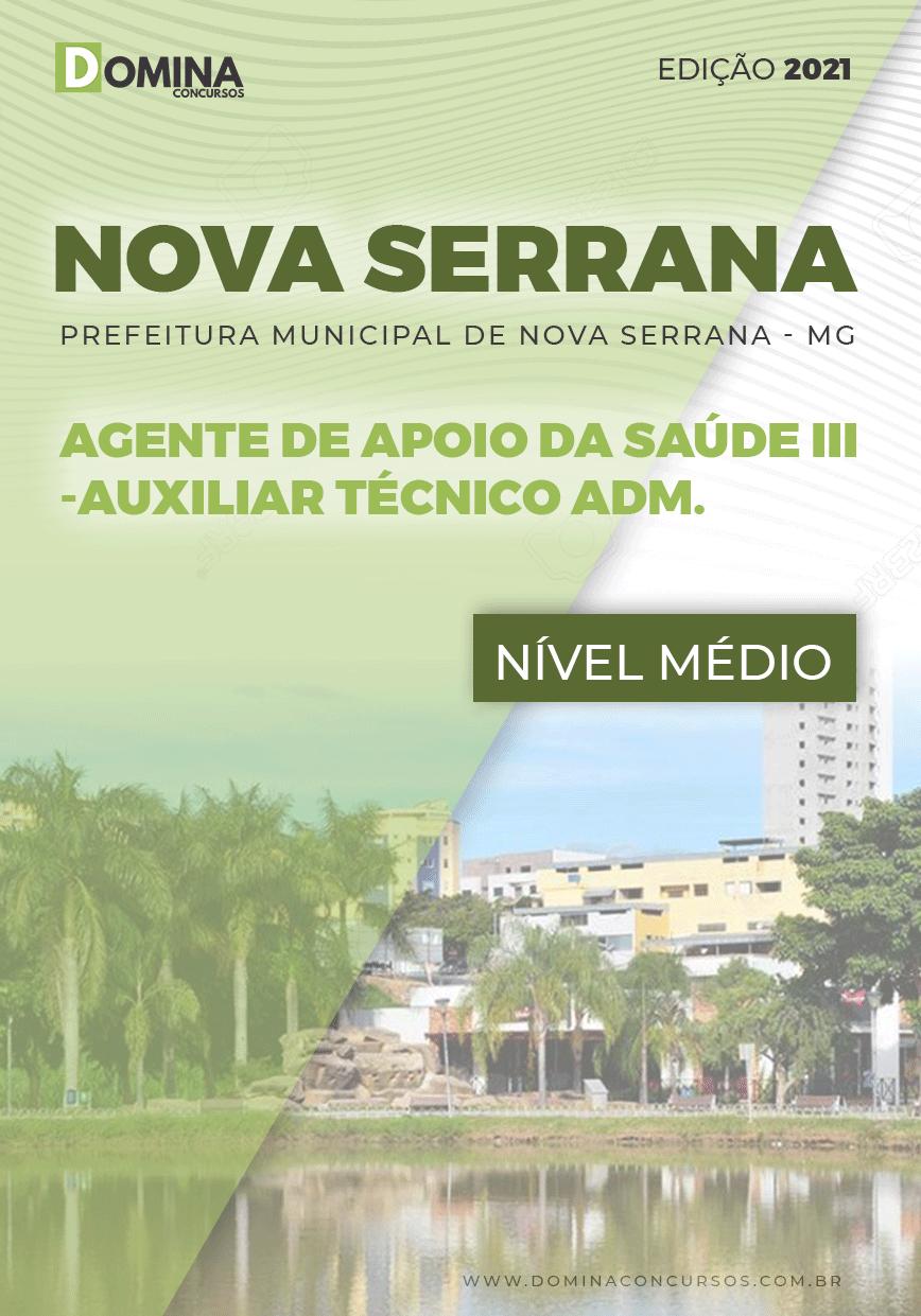Apostila Pref Nova Serrana MG 2021 Auxiliar Técnico Administrativo