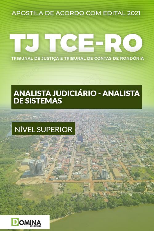 Apostila TJ TCE RO 2021 Analista Judiciário Analista de Sistemas