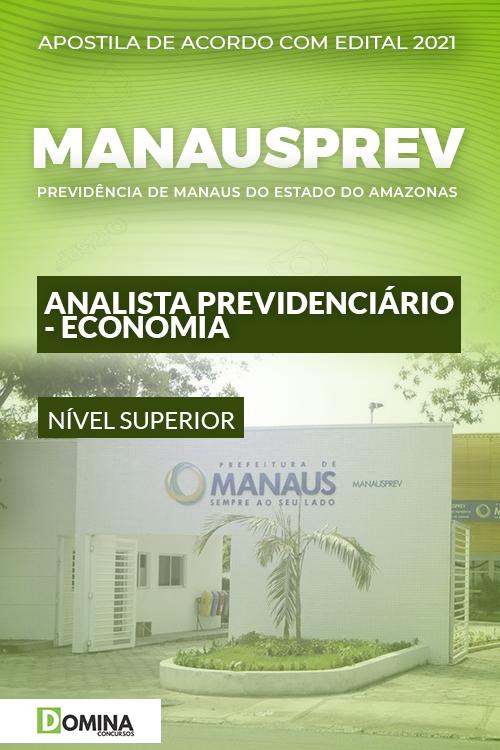 Apostila ManausPrev AM 2021 Analista Prev Economia