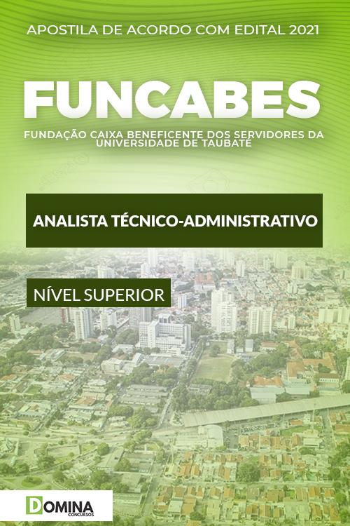 Apostila FUNCABES SP 2021 Analista Técnico Administrativo