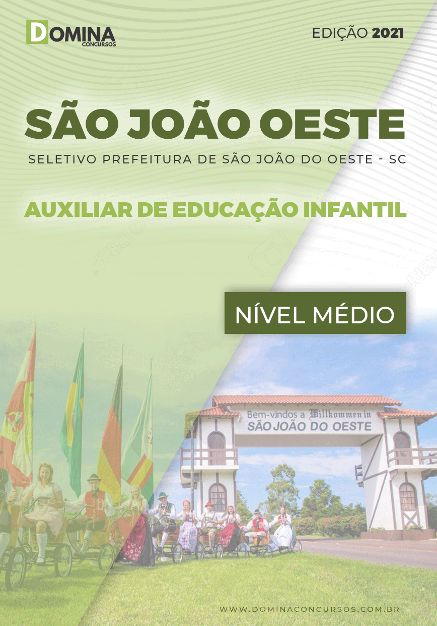 Apostila Pref São José Oeste SC 2021 Auxiliar de Educação Infantil