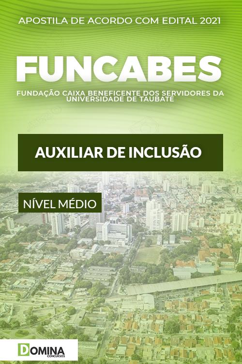 Apostila Seletivo FUNCABES SP 2021 Auxiliar de Inclusão