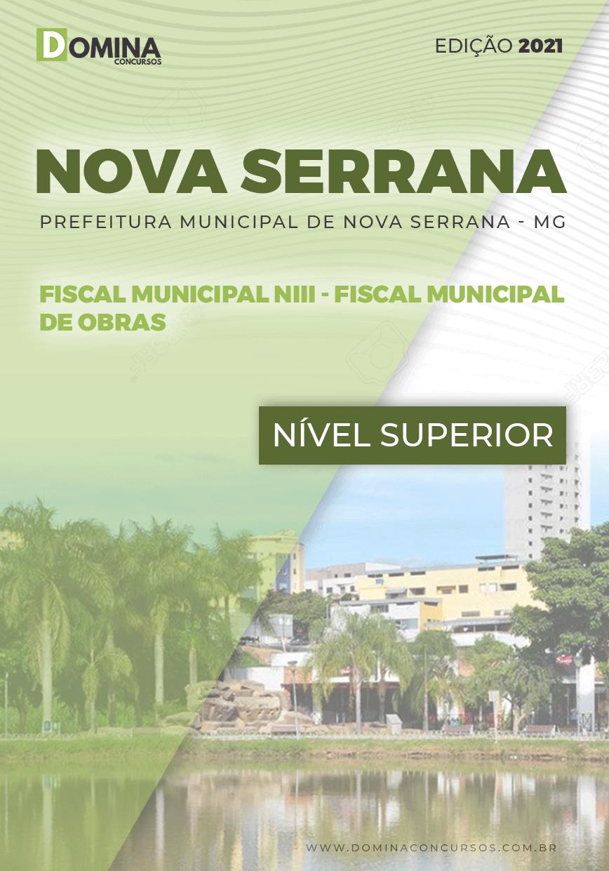Apostila Pref Nova Serrana MG 2021 Fiscal Municipal de Obras