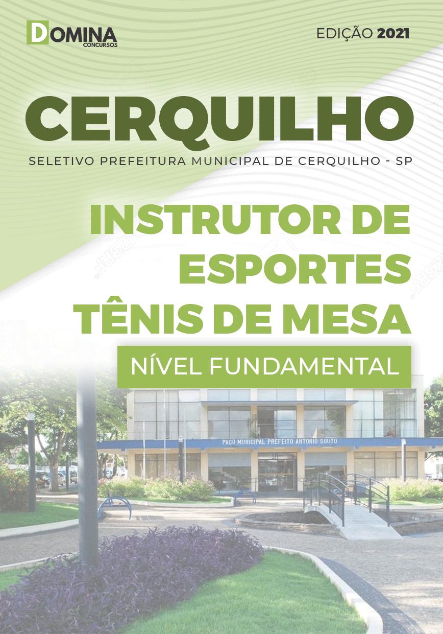 Apostila Pref Cerquilho SP 2021 Instrutor Esportes Tênis de Mesa