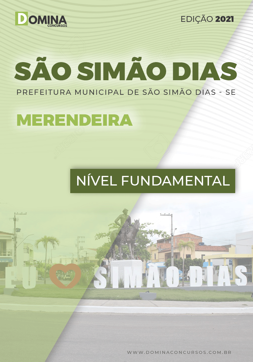 Apostila Pref São Simão Dias SE 2021 Merendeira