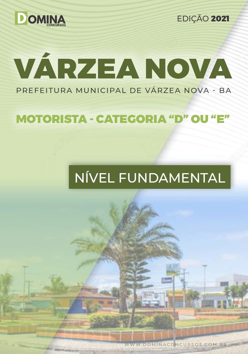 Apostila Pref Várzea Nova BA 2021 Motorista D ou E