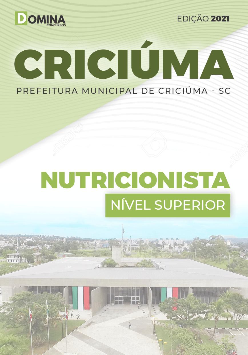 Apostila Seletivo Pref Criciúma SC 2021 Nutricionista