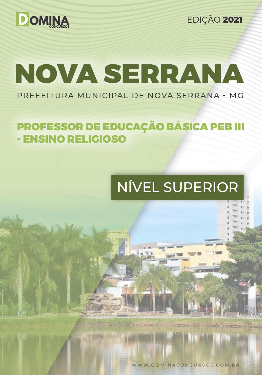 Apostila Pref Nova Serrana MG 2021 Professor Ensino Religioso