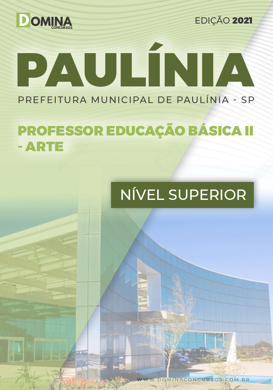 Apostila Concurso Pref Paulínia SP 2021 Professor II Arte