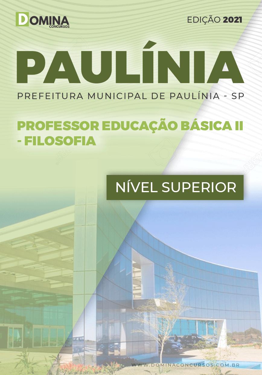 Apostila Concurso Pref Paulínia SP 2021 Professor II Filosofia