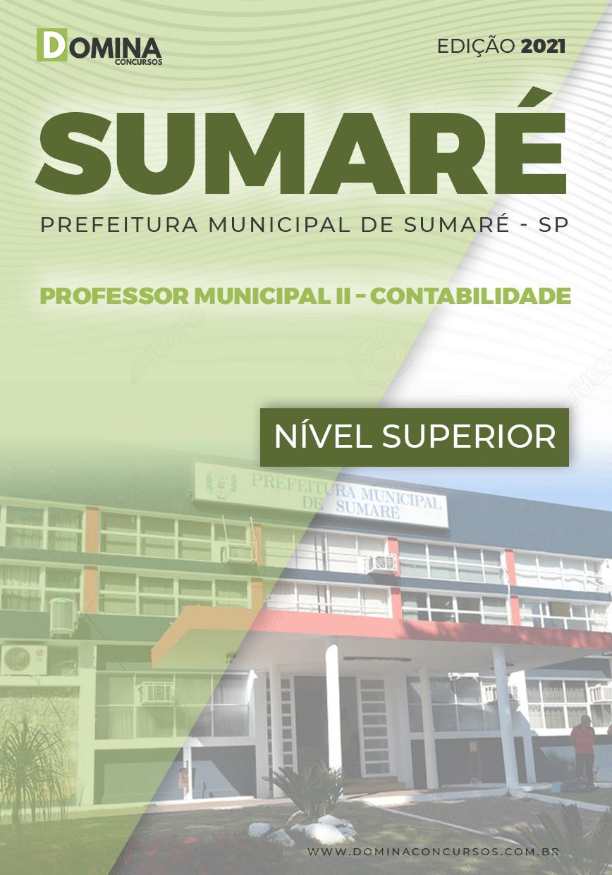 Apostila Pref Sumaré SP 2021 Professor II Contabilidade