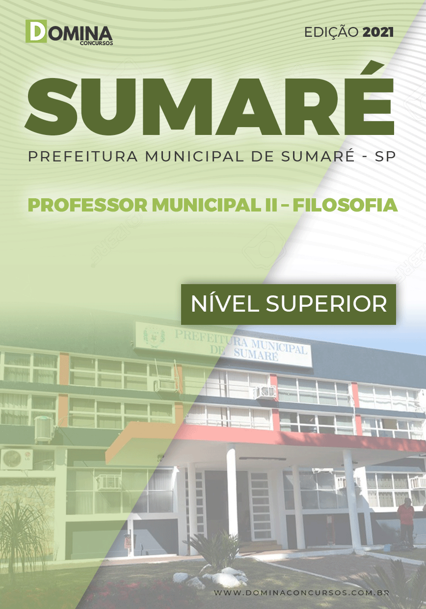 Apostila Pref Sumaré SP 2021 Professor Municipal II Filosofia