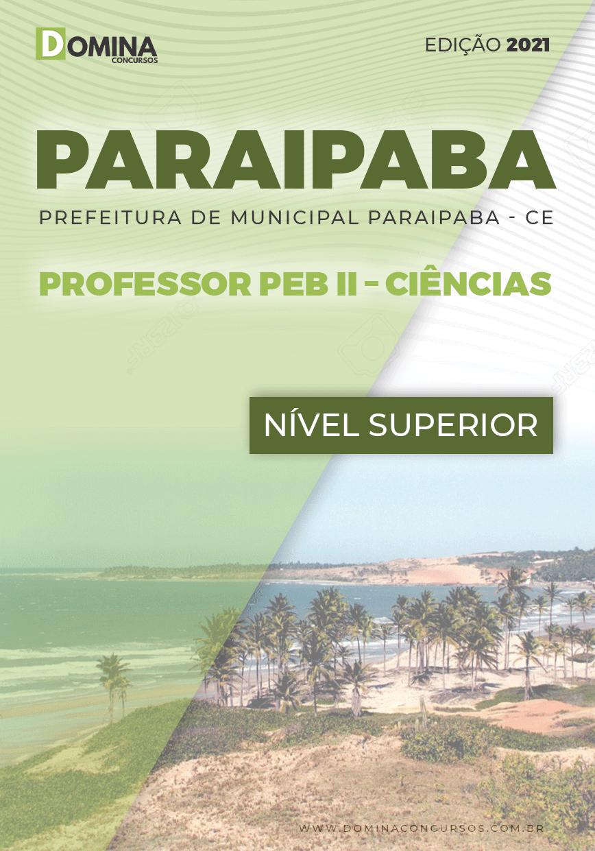 Apostila Pref Paraipaba CE 2021 Professor PEB II Ciências