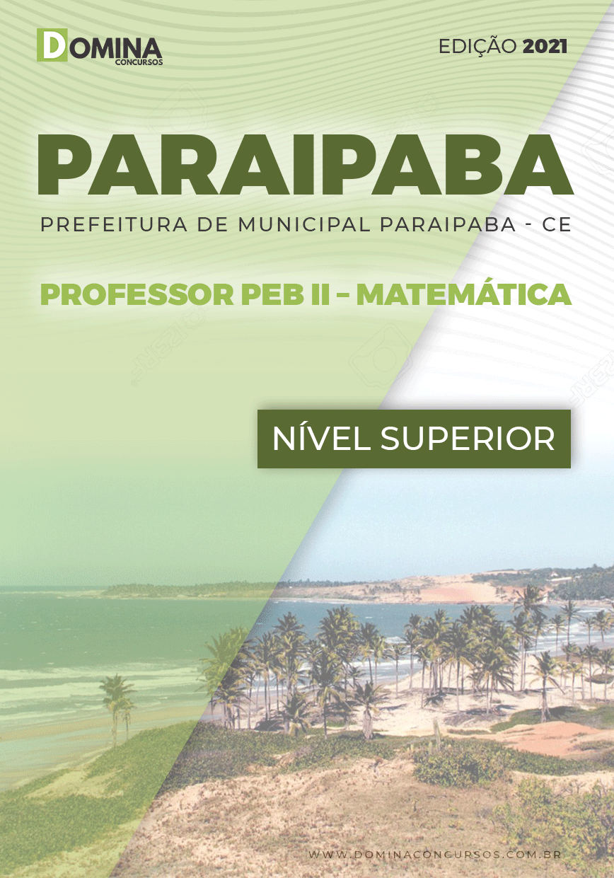 Apostila Pref Paraipaba CE 2021 Professor PEB II Matemática