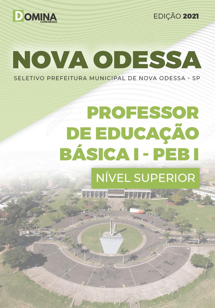 Apostila Pref Nova Odessa SP 2021 Professor Educação Básica I