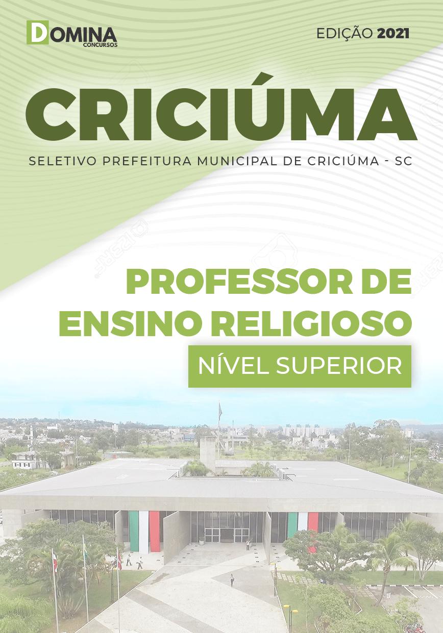 Apostila Pref Gaspar SC 2021 Professor de Ensino Religioso