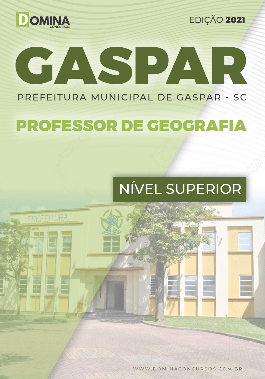 Apostila Pref Gaspar SC 2021 Professor de Geografias