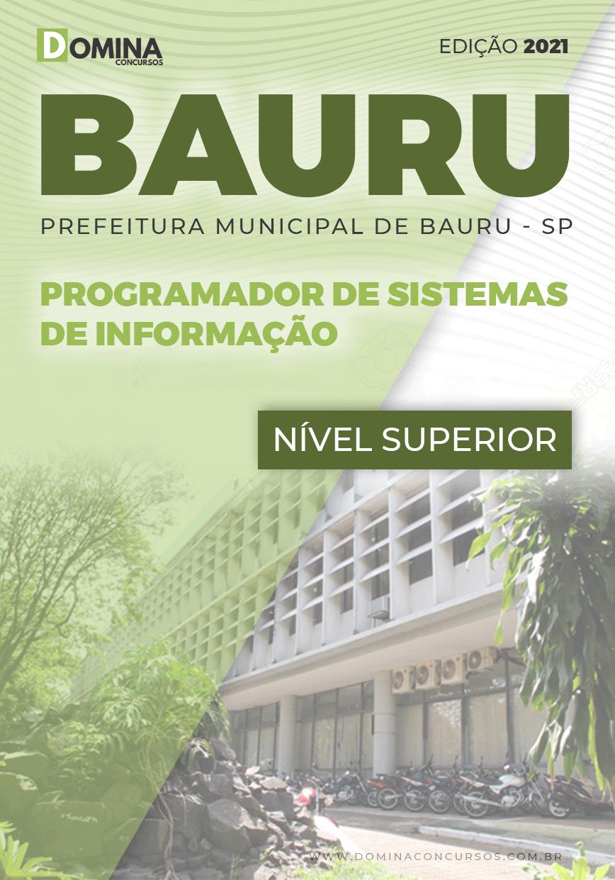 Apostila Pref Bauru SP 2021 Programador Sistemas de Informação