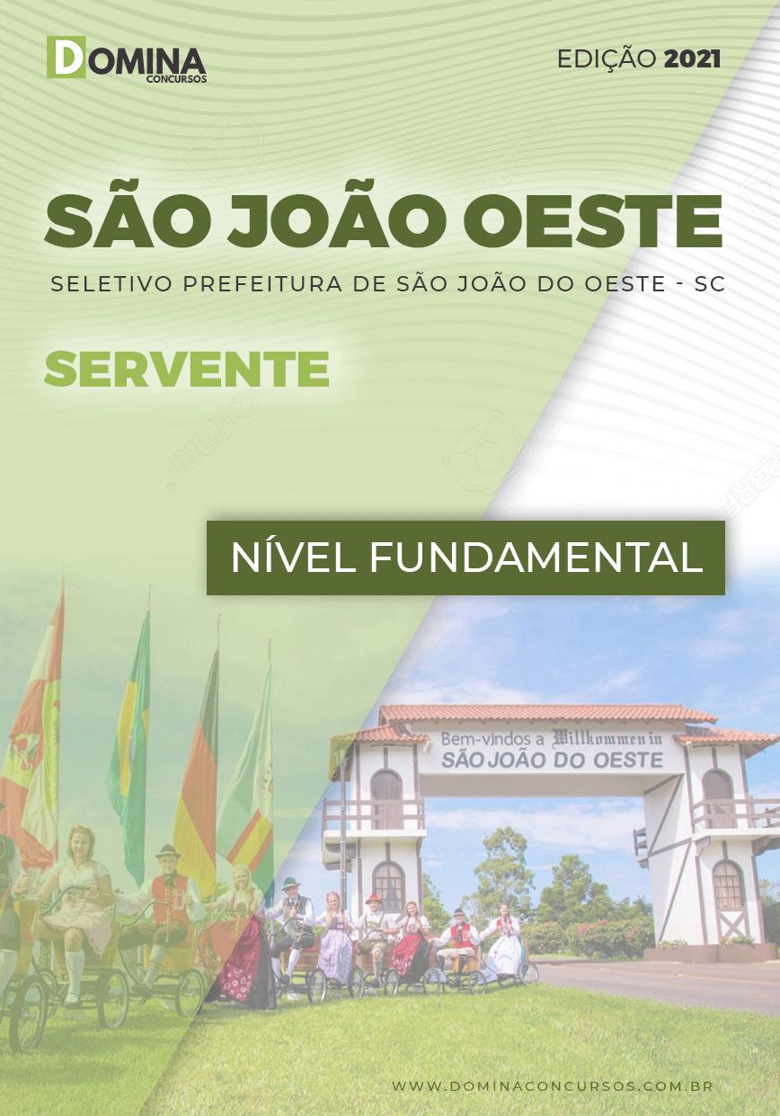 Apostila Seletivo Pref São José Oeste SC 2021 Servente