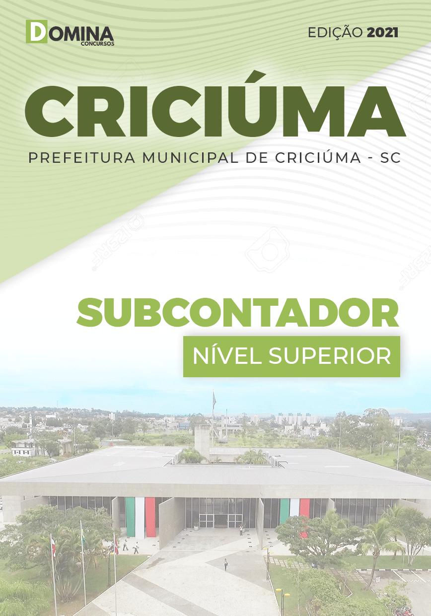 Apostila Seletivo Pref Criciúma SC 2021 Subcontador