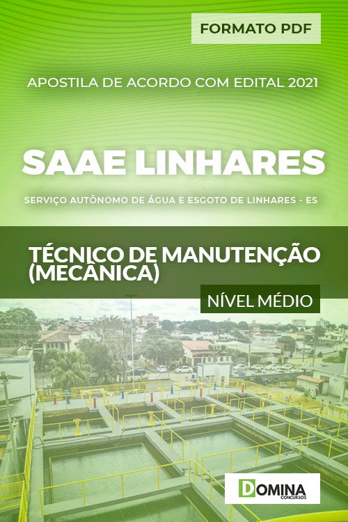 Apostila SAAE Linhares ES 2021 Técnico em Mecânica