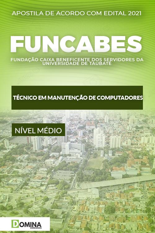 Apostila FUNCABES SP 2021 Técnico Manutenção Computadores