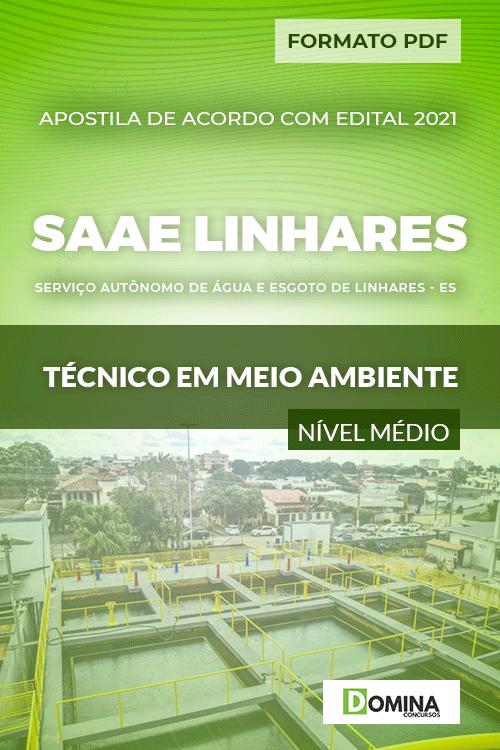Apostila SAAE Linhares ES 2021 Técnico em Meio Ambiente