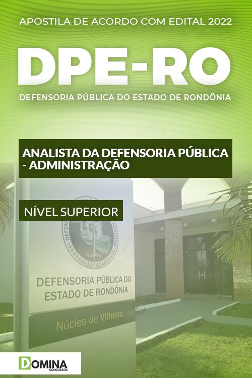 Apostila Concurso DPE RO 2022 Analista Administração