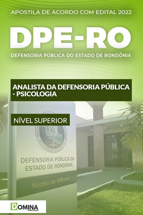 Apostila Digital Concurso DPE RO 2022 Analista Psicologia