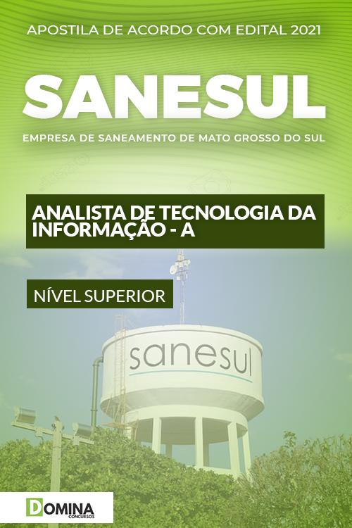 Apostila SANESUL MS 2021 Analista Tecnologia Informação A