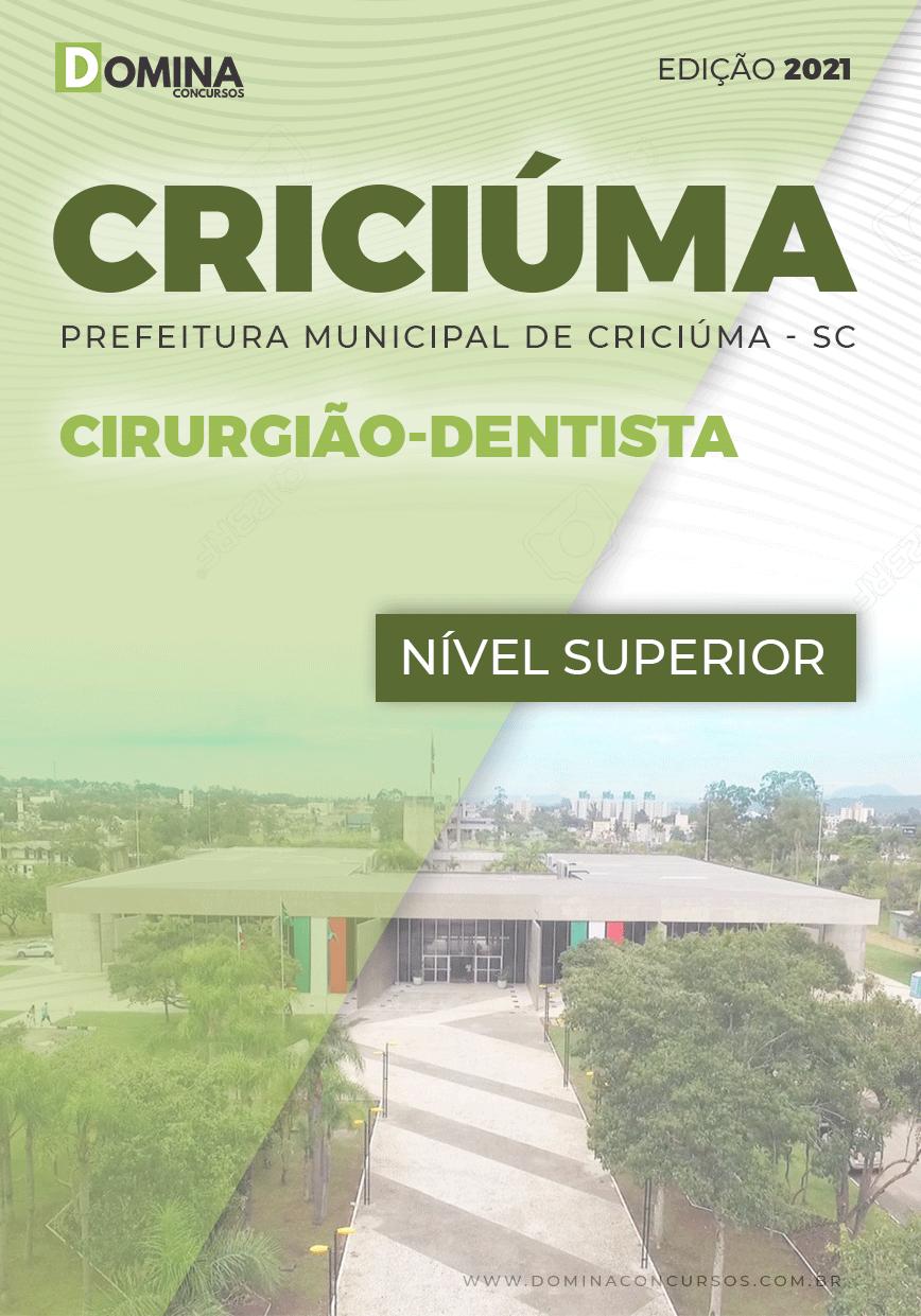 Apostila Seletivo Pref Criciúma SC 2021 Cirurgião Dentista
