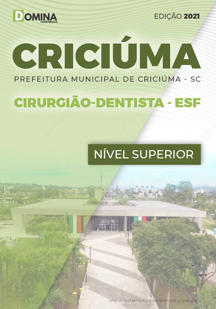 Apostila Seletivo Pref Criciúma SC 2021 Cirurgião Dentista ESF