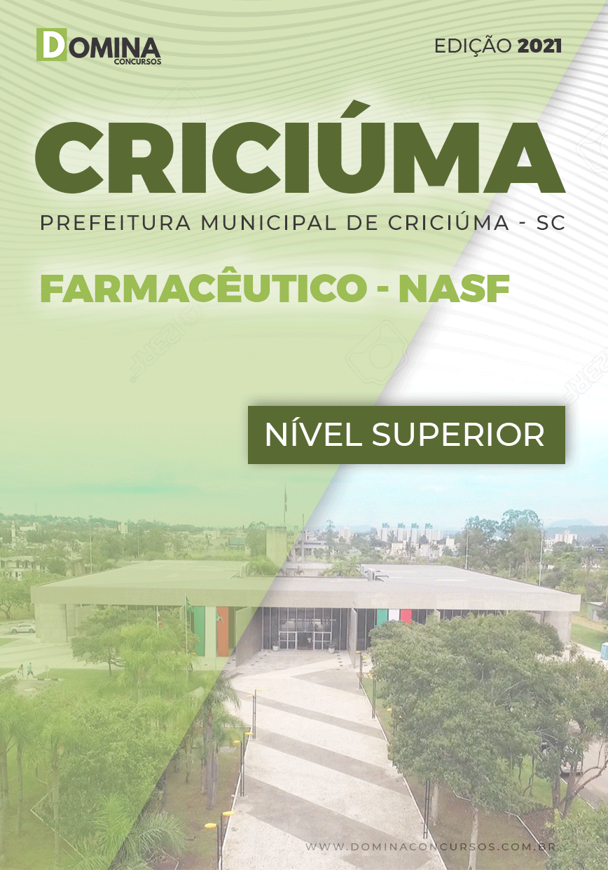 Apostila Seletivo Pref Criciúma SC 2021 Farmacêutico NASF
