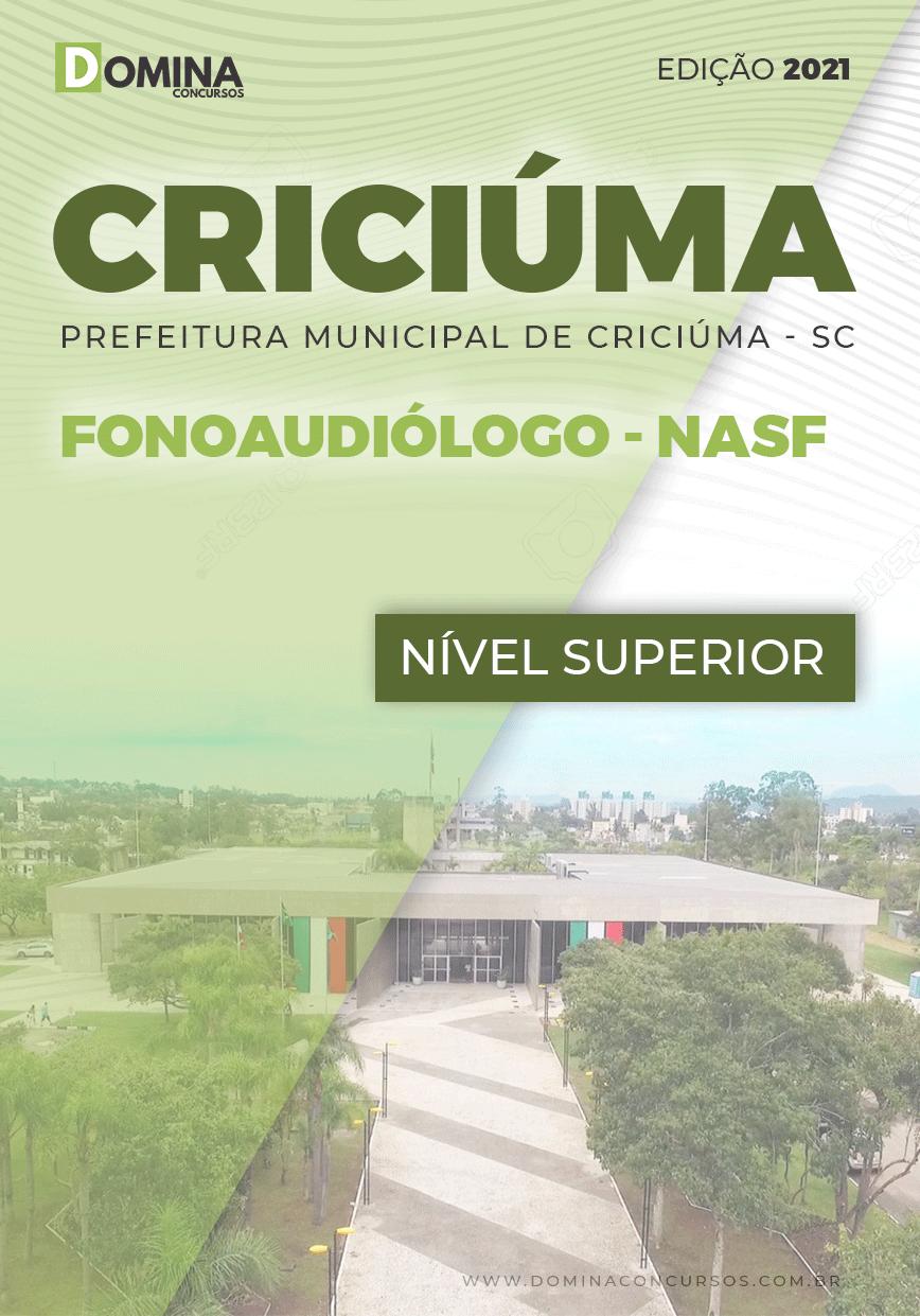 Apostila Seletivo Pref Criciúma SC 2021 Fonoaudiólogo NASF