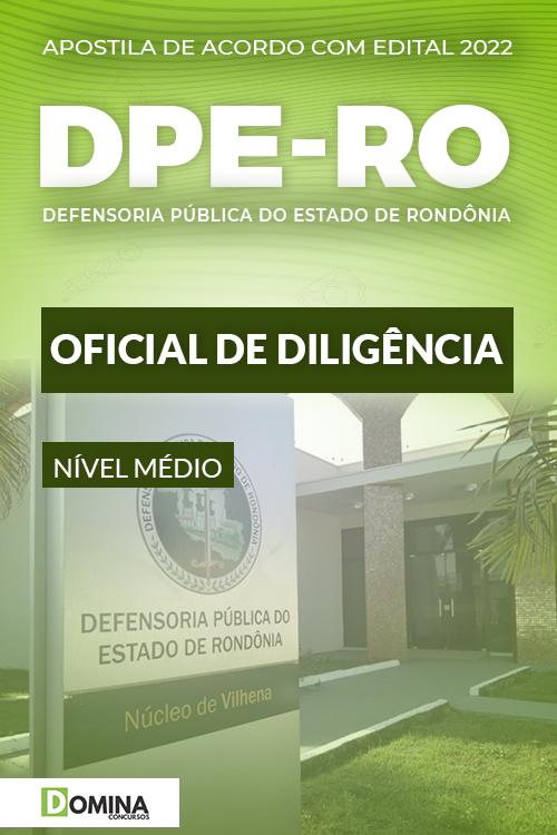 Apostila Concurso DPE RO 2022 Oficial de Diligência