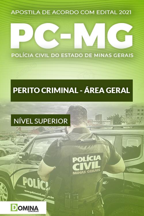 Apostila Concurso PC MG 2021 Perito Criminal Geral