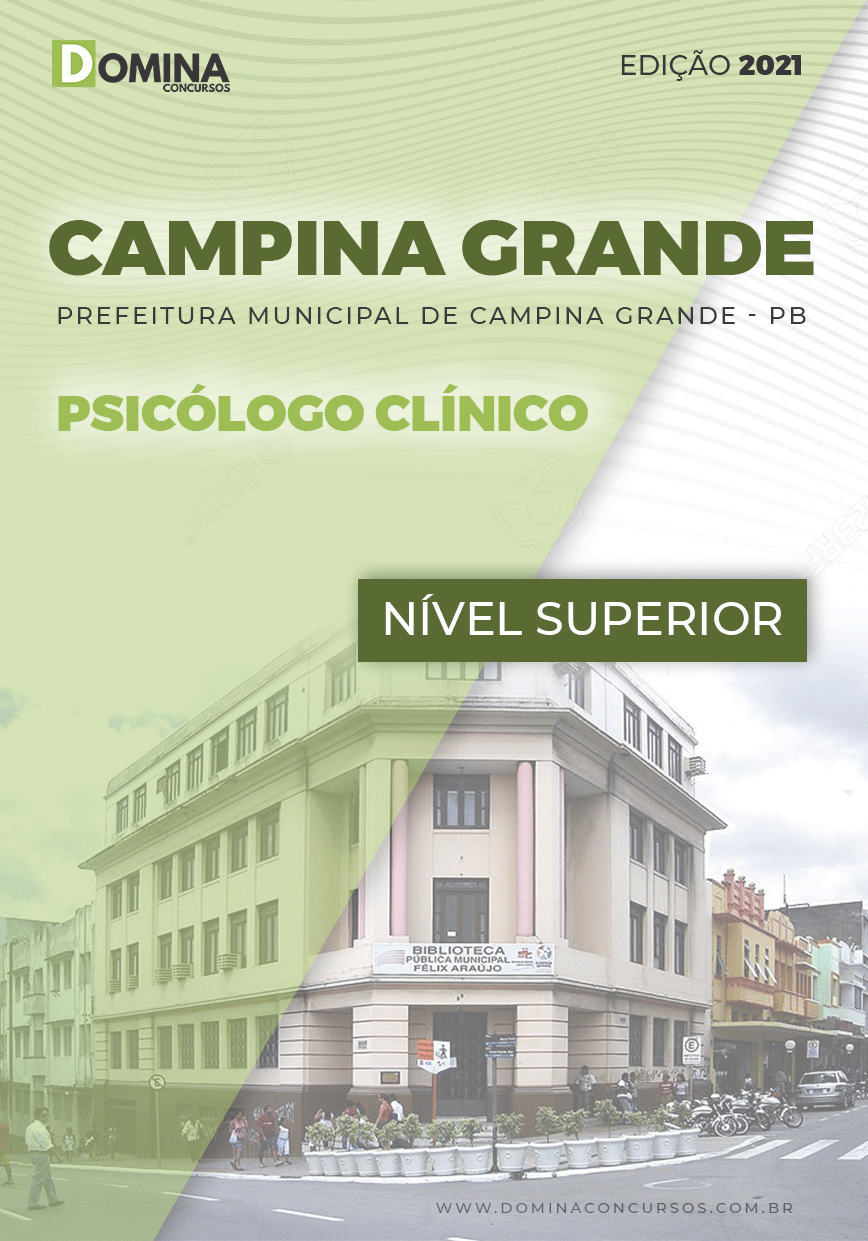 Apostila Pref Campina Grande PB 2021 Psicólogo Clínico