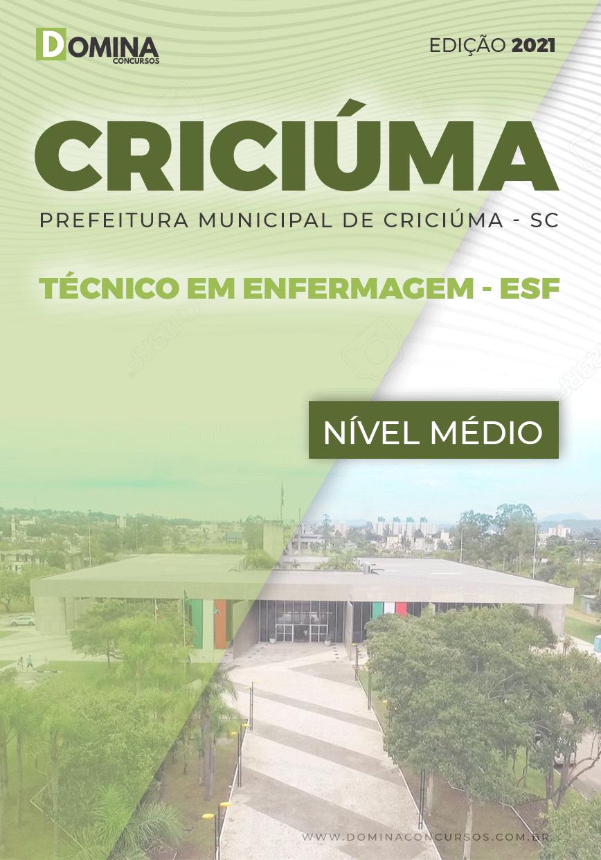 Apostila Pref Criciúma SC 2021 Técnico em Enfermagem ESF